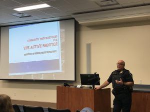 Capt. Jeff Holcomb presents Active Shooter Training