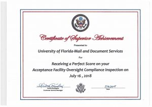 Certificate of Superior Achievement